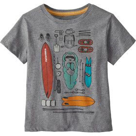 Patagonia Graphic Organic Camiseta Niños, bandito kit/gravel heather
